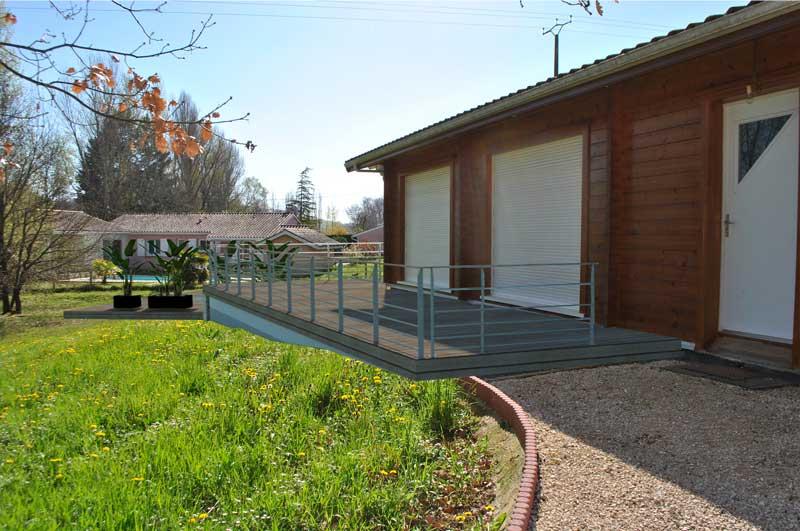 Extension bois d'une maison & piscine (Montauban 82)
